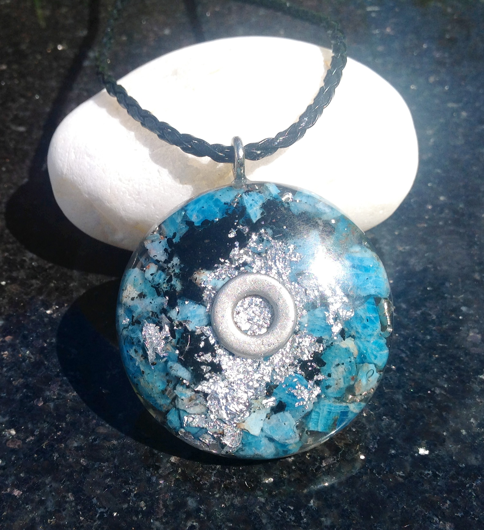 Powerful orgone pendant blue apatite orgone eire powerful orgone pendant blue apatite aloadofball Choice Image
