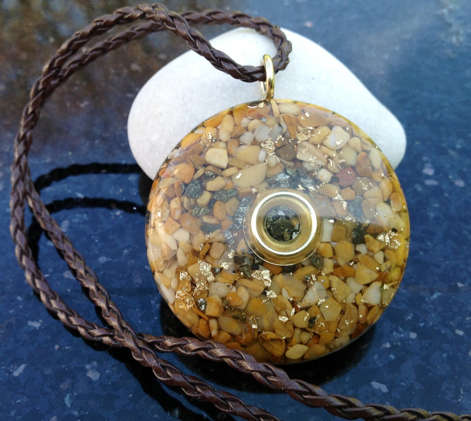 Powerful orgone pendant yellow jasper orgone eire powerful orgone pendant yellow jasper mozeypictures Choice Image